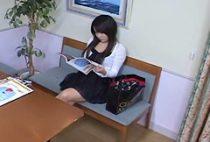 Big booty Japanese enjoys some erotic voyeur massage