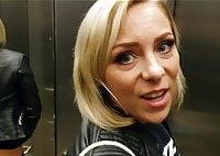 Geile Blondine vernascht User public im Aufzug