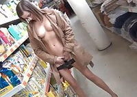 Naked GF in the DIY Store