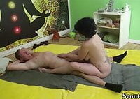 German MILF Seduce Young Boy to Fuck with Thai Massage