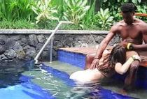 Interracial bath