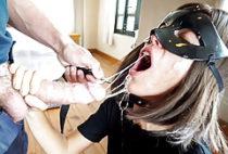 Sloppy Rough Deepthroat BJ (Leash
